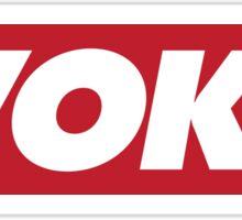 """Red """"Woke"""" Logo Sticker"""