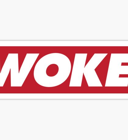 "Red ""Woke"" Logo Sticker"