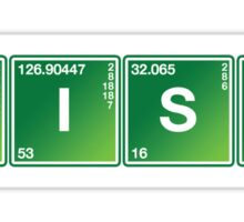 IRISH Periodic Table Element Tee Sticker