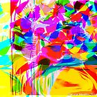 Abstract Mod Pop Art Flower Bouquet by Kater