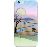 Phone case: Canoe Paper Cut Landscape iPhone Case/Skin
