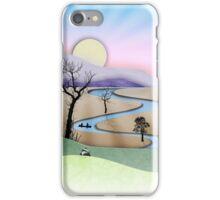 Phone case: Canoe Paper Cut Landscape iPhone Case/Skin