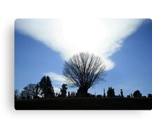 A Holy Rood Silhouette Canvas Print