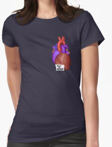 Out of Order Heart Womens Fitted T-Shirt