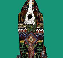 Basset Hound jade by Sharon Turner