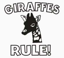 Giraffes Rule One Piece - Short Sleeve