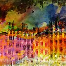 Houses in Watercolor Reflection  by leapdaybride