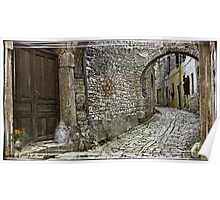 An Old CobbleStone Alley Poster