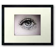 Realistic Eye Framed Print