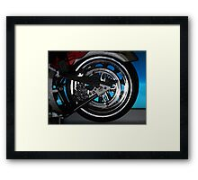 ©HS Motorcycle Wheel Cartoon IA Framed Print