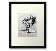 Tension-charcoal sketch Framed Print