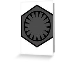 First Order Grey Greeting Card