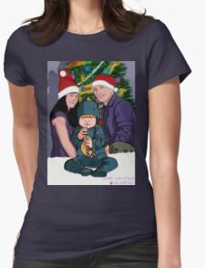 xmas family Womens Fitted T-Shirt