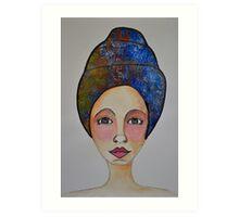 Blue Turban Art Print