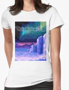 Icy Winter Vaporwave Aesthetics Womens Fitted T-Shirt