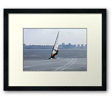 racer windsurfer Framed Print