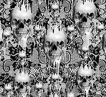 Victorian gothic lace skull pattern by KristyPatterson
