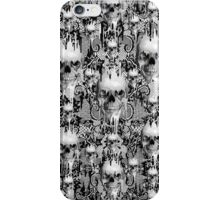 Victorian gothic lace skull pattern iPhone Case/Skin
