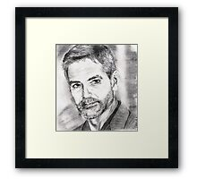 george clooney... pencil Framed Print