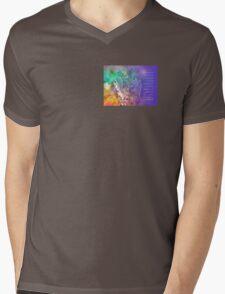 Serenity Prayer Flowers and Tree  Mens V-Neck T-Shirt