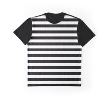 Stripes (Parallel Lines) - White Black Graphic T-Shirt