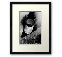 White mug  Framed Print