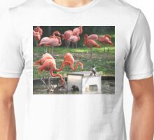 Flamingos by the Pond Unisex T-Shirt