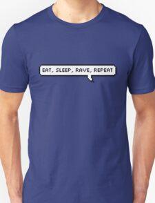 Eat, Sleep, Rave, Repeat Speech Bubble T-Shirt