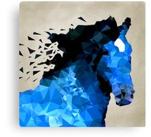 Abstract horse of geometric shape, symbol 2014 Canvas Print