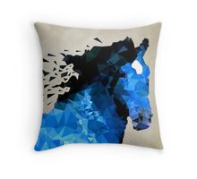 Abstract horse of geometric shape, symbol 2014 Throw Pillow