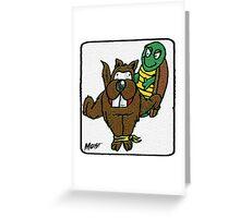Turtle Vs Beaver Greeting Card