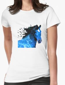 Abstract horse of geometric shape, symbol 2014 Womens Fitted T-Shirt