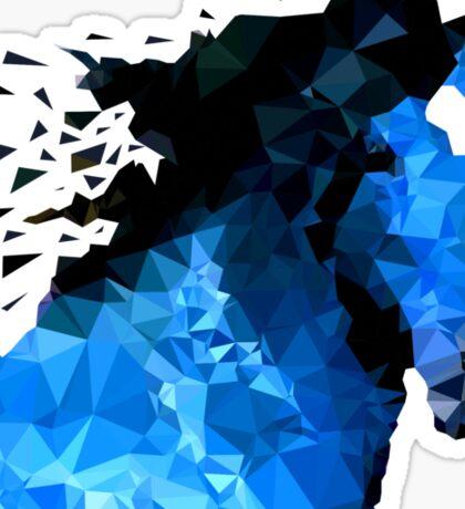 Abstract horse of geometric shape, symbol 2014 Sticker