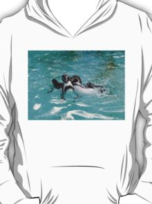 Penguins playing in the Water T-Shirt
