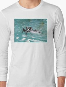 Penguins playing in the Water Long Sleeve T-Shirt