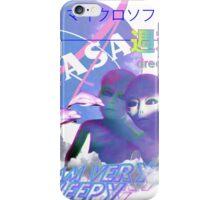 NASA Alien vaporwave aesthetics iPhone Case/Skin