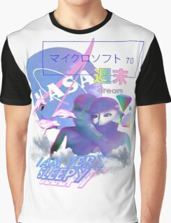 NASA Alien vaporwave aesthetics Graphic T-Shirt