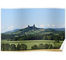 Czech Castle with farmland Poster