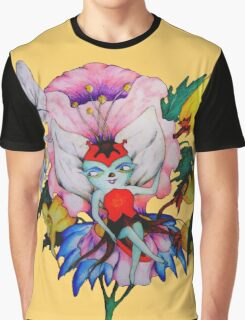 Flower Fly II Graphic T-Shirt