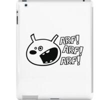 The dog barks: ARF, ARF, ARF! iPad Case/Skin