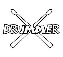 Drummer with crossed Drumsticks by chrisbears