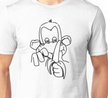 The monkey peels a banana Unisex T-Shirt