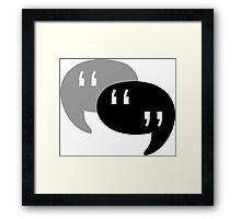 Speech Bubbles Framed Print
