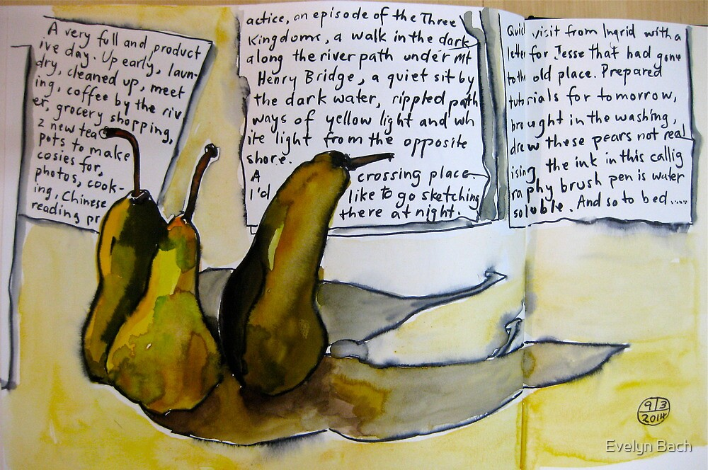 pears with attitude by Evelyn Bach