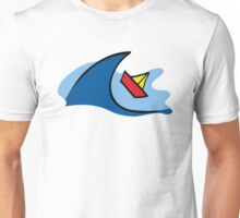 Paper-Boat in the Waves Unisex T-Shirt
