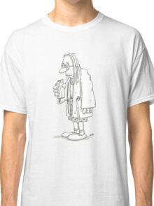 Man with milk carton and bathrobe Classic T-Shirt