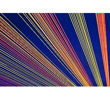 Rainbow Strings Photographic Print
