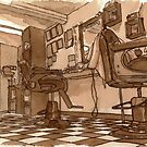 Bernard's Barbers (In Tea and Coffee) by acrichton