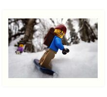 Finally some lowland snow! Art Print