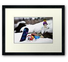 #snowboardfail Framed Print